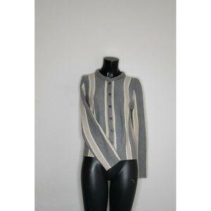 J McLaughlin Small Sweater Stripe Merino Wool